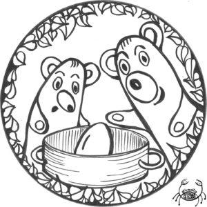 Omalovánka z pohádky Jak medvědi vařili