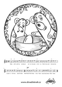 Písnička a omalovánka z pohádky Jak medvědi vařili